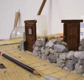Come costruire casette per il presepe in pietra for Come costruire una cabina di pietra