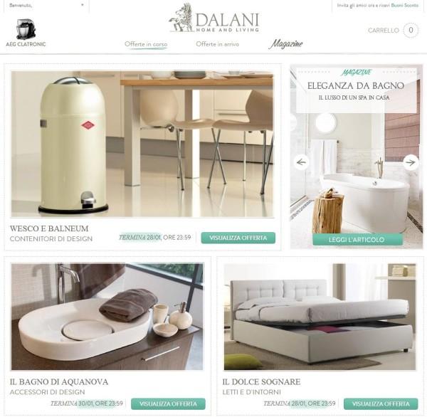 Dalani opinioni sullo shop on line archistyle for Dalani arredamenti catalogo