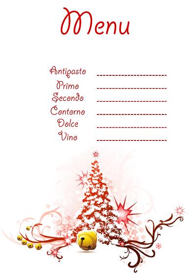 Menu Di Natale Da Stampare E Compilare.Menu Di Natale Da Stampare Archistyle