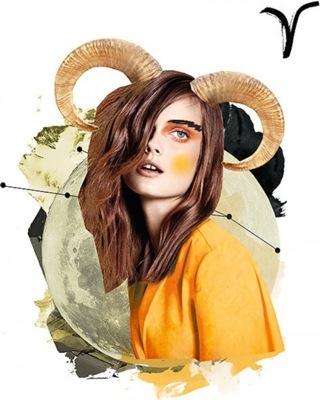 ariete, illustrazione, segno zodiacale