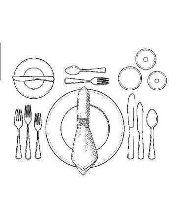Come apparecchiare la tavola di natale archistyle - Posizione posate a tavola ...