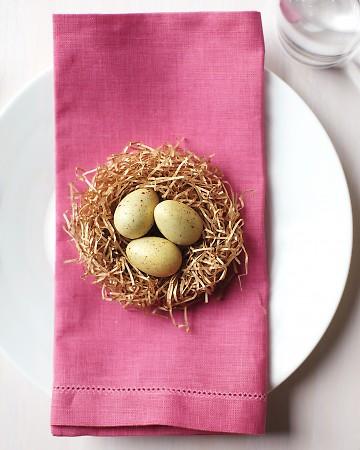 segnaposto con uova Pasqua