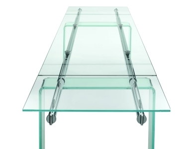 Tavoli allungabili: modelli in cristallo e in legno  Archistyle