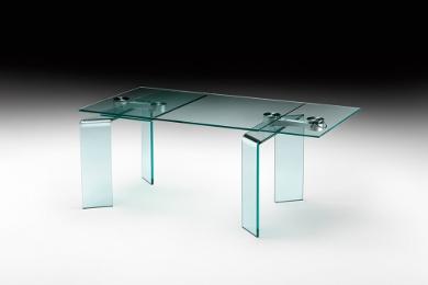 Tavoli allungabili modelli in cristallo e in legno for Tavoli in cristallo e acciaio