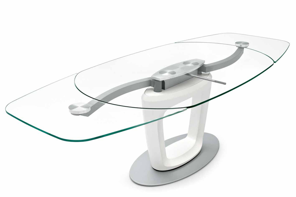 Tavoli allungabili modelli in cristallo e in legno - Tavolo cristallo calligaris ...