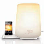 Lampada Philips Wake-up Light con iPhone