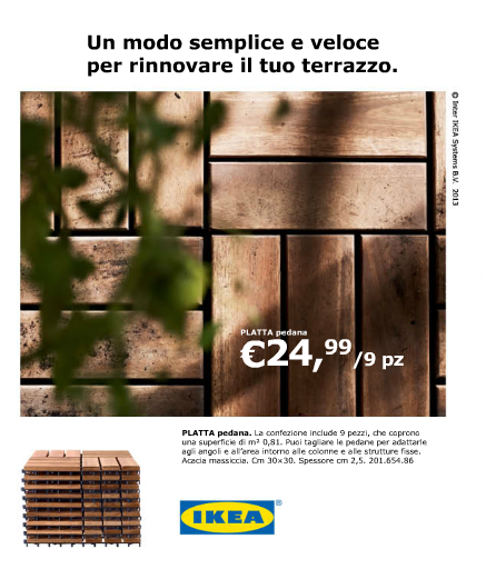 Ikea catalogo estate 2013 archistyle for Pavimento giardino ikea