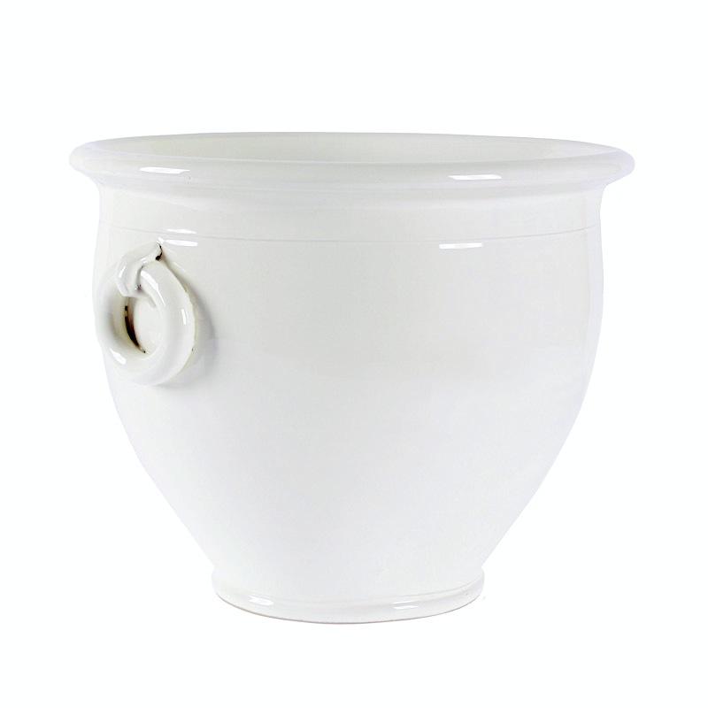 Vaso ceramica colturo bianco archistyle shop - Vasi ceramica esterno ...